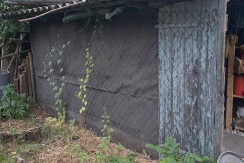 Ein alter Zaun vom Dachboden