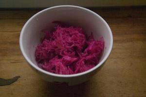 Our pink sauerkraut